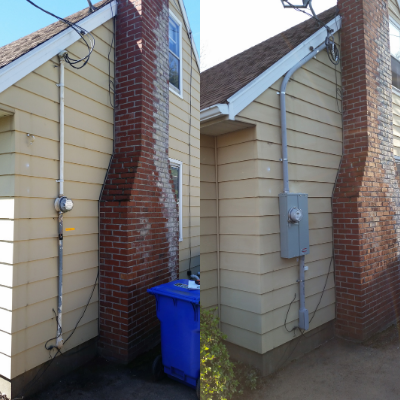 Before and after electrical service change in Sherwood by Classic Electric