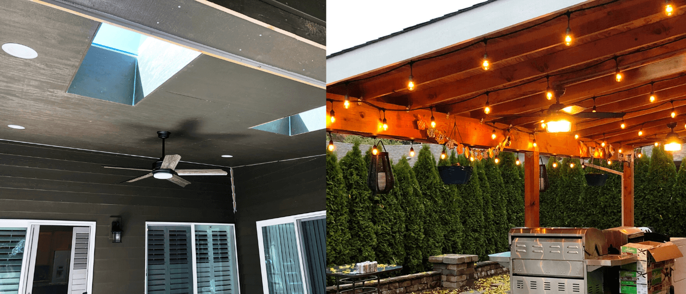 Outdoor patio and kitchen lights and ceiling fans Sherwood Tigard Tualatin