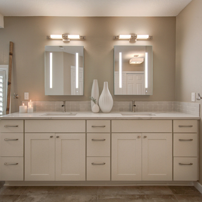 Bathroom remodel with vanity lights and receptacle outlets in Tualatin by Classic Electric