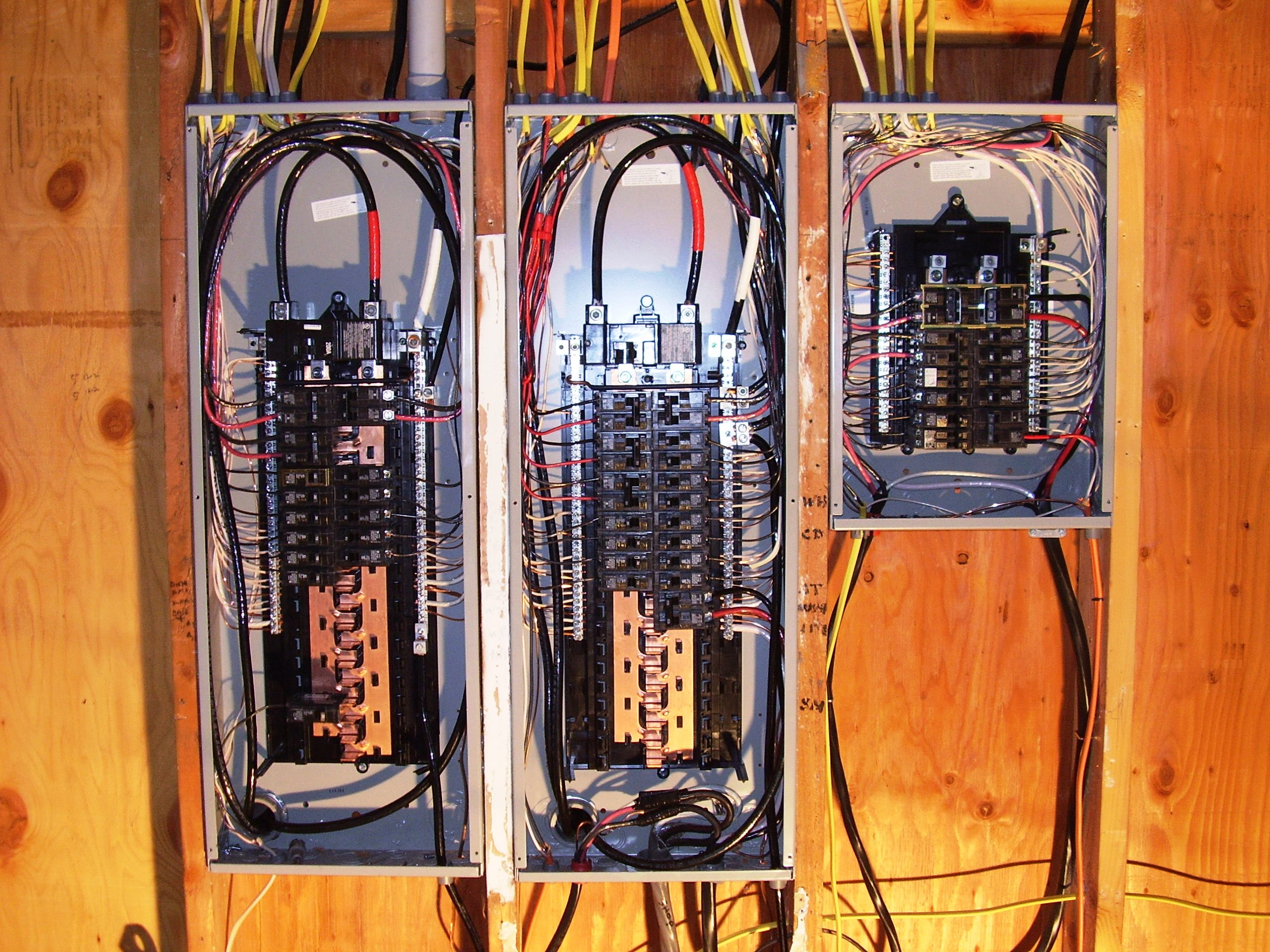 Electrical panels for house remodel