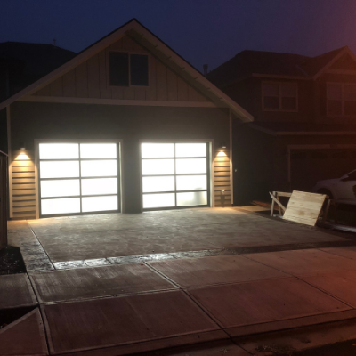 Exterior garage lighting in Tualatin by Classic Electric