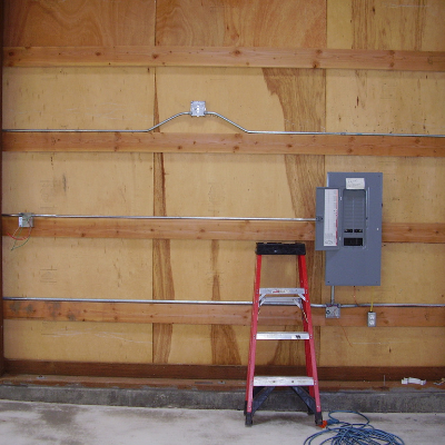Garage and shop electrical panel and receptacle outlets in Wilsonville by Classic Electric