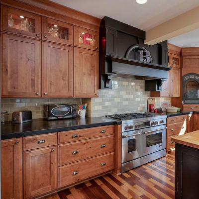 Kitchen remodel recessed can lights and in-cabinet lights by Classic Electric in Seaside